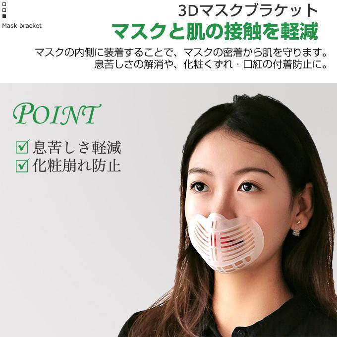 マスクブラケット 3枚セット マスクインナーサポート 洗える 繰り返し使える 息がしやすい 呼吸確保 マスクガード ムレ対策 蒸れ防止 在庫あり 当日出荷|yuria|03