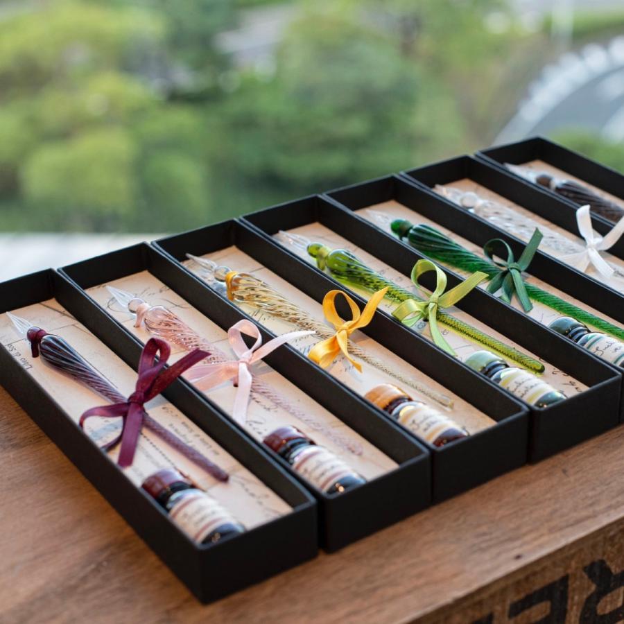 イタリア Signum社 ガラスペン ミニインクセット 送料無料カード決済可能 期間限定の激安セール