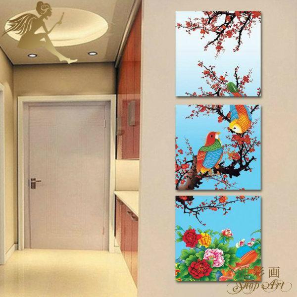 絵画 インテリア 壁掛け アートパネル 3パネルセット 綺麗な鳥