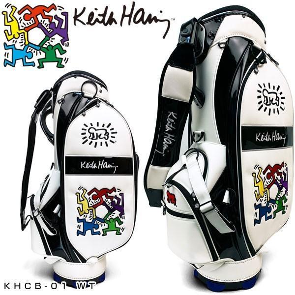 キースヘリング ゴルフ キャディバッグ Hexagon Figs KHCB-01 Keith Haring 【WT】【ホワイト】