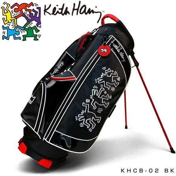キースヘリング ゴルフ スタンド キャディバッグ 3Figs KHCB-02 Keith Haring 【BK】【ブラック】