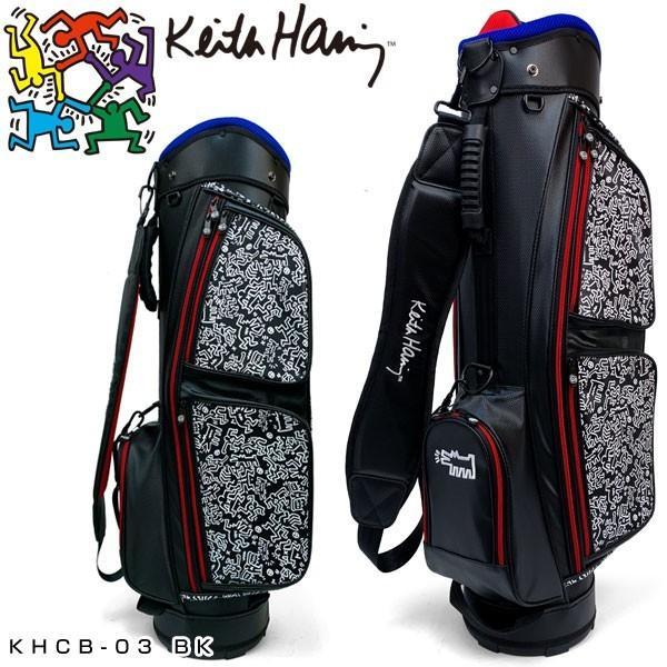 キースヘリング ゴルフ 軽量キャディバッグ Pattern ブラック KHCB-03 【BK】【ブラック】