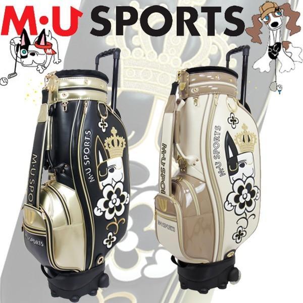 日本正規品 MU SPORTS MUスポーツ 703R7100S レディース ゴルフバック 8.5インチ ローリングソール キャスター付き アーモ】【メルー】