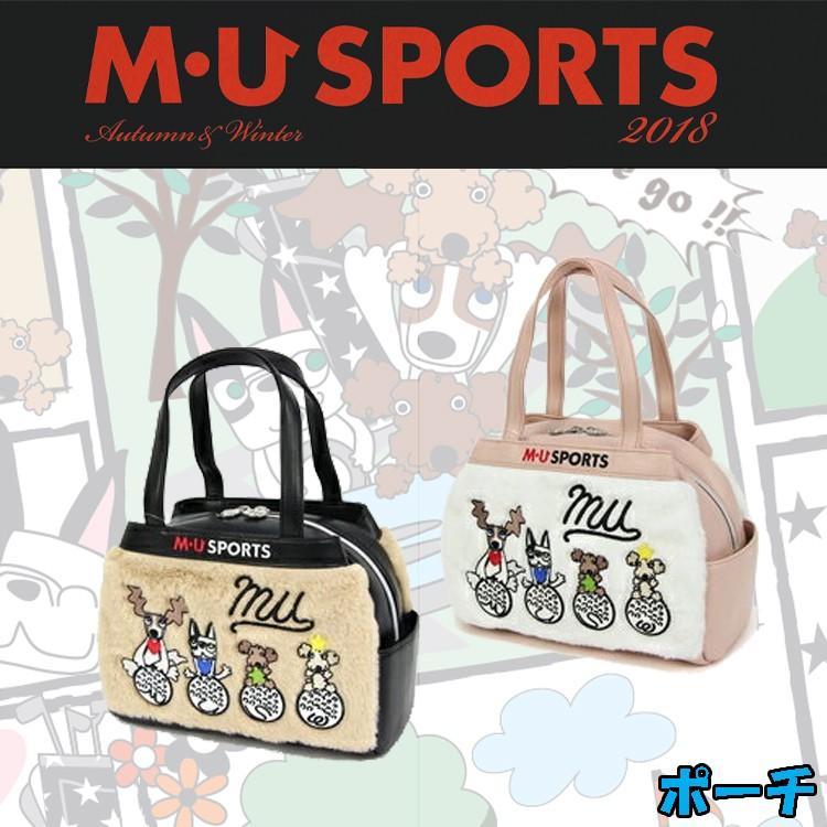 MU SPORTS MUスポーツ 703W6028 レディース ラウンドバッグ ポーチ 小物入れ 【ラウンド】【ポーチ】【カートポーチ】【カートバッグ】【M・U SPORTS】【MUスポ