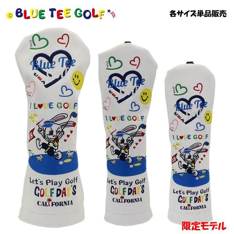 セール 登場から人気沸騰 即納 限定モデル ブルーティーゴルフ ゴルフクラブ用 ヘッドカバー TEE バーディーラビット BLUE キャラクタシリーズ 送料0円 GOLF