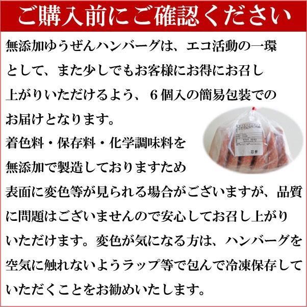 Zipで紹介 ハンバーグ 冷凍 お試し 無添加 牛100% ゆうぜんハンバーグ 150g 6個入 牛肉 (ハンバーグ ミンチ) 明和食品 yuuzen-hb 11