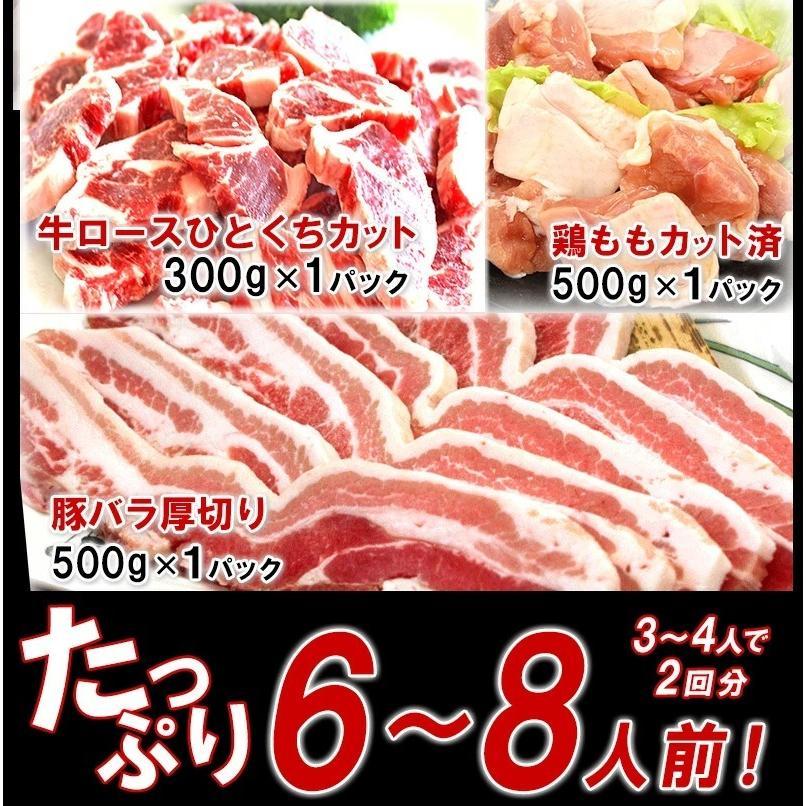 BBQ 肉 バーベキュー セット 焼肉 食材 牛肉 豚肉 鶏肉 タレ 合計 1.6kg 6人前〜8人前 わけあり 訳あり アウトドア|yuuzen-hb|03