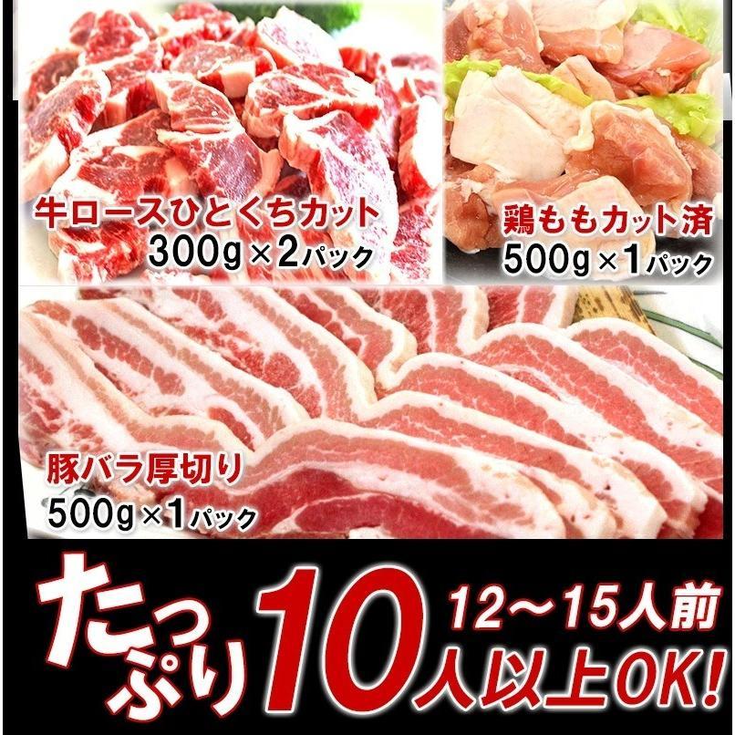 バーベキュー 肉 食材 BBQ セット 焼肉 牛肉 豚肉 鶏肉 合計 2.8kg 10人前〜15人前 わけあり 訳あり アウトドア yuuzen-hb 03