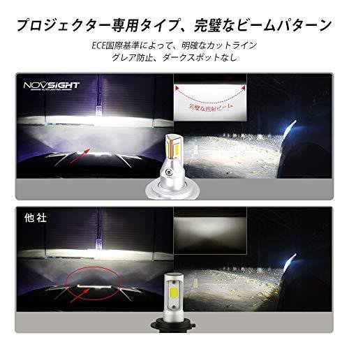 NOVSIGHT H11ledヘッドライト LEDバルブ H8 H9 H16対応兼用 フォグランプ 90W(45W*2) 12000LM(6000LM*2) 6500K 360°角度調整可 DC9-22|yuyu-harebare|05