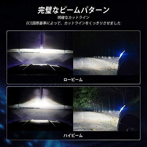 NOVSIGHT H11ledヘッドライト LEDバルブ H8 H9 H16対応兼用 フォグランプ 90W(45W*2) 12000LM(6000LM*2) 6500K 360°角度調整可 DC9-22|yuyu-harebare|08