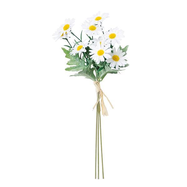 造花 セールSALE%OFF シルクフラワー マーガレットデージーバンチ 1束3本 asca 爆買い新作 アスカ商会 A-33397-001 ホワイト