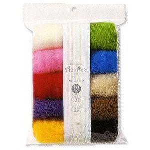 新品 羊毛フェルト ハマナカ アクレーヌ Hamanaka 中古 10色セット H441-142-1