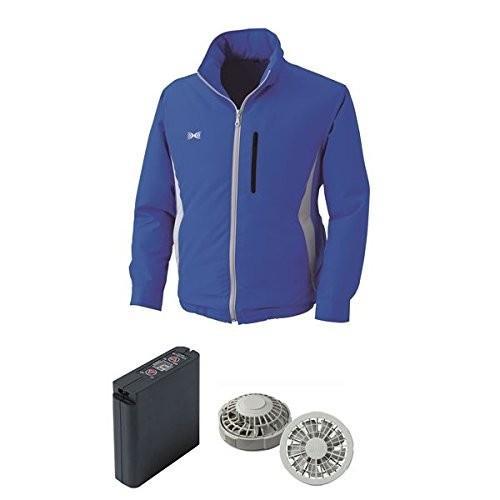 空調服 フード付ポリエステル製空調服 大容量バッテリーセット ファンカラー:グレー 0520G22C04S3 カラー:ブルー サイズ:L ス ス ス 4ac