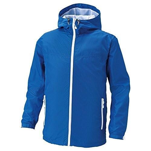 サンエス 空調風神服 服地のみ フード付長袖ブルゾン ブルー L 取寄品 KU90700-4-L