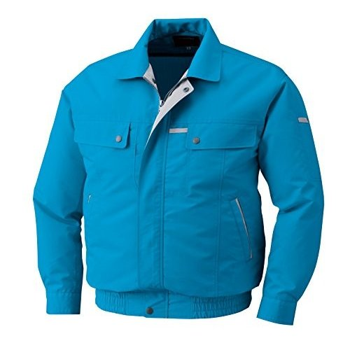 2016年 株式会社空調服 綿・ポリ混紡トリカット空調服 ウェアのみ仕様 KU90450 LL ターコイズブルー