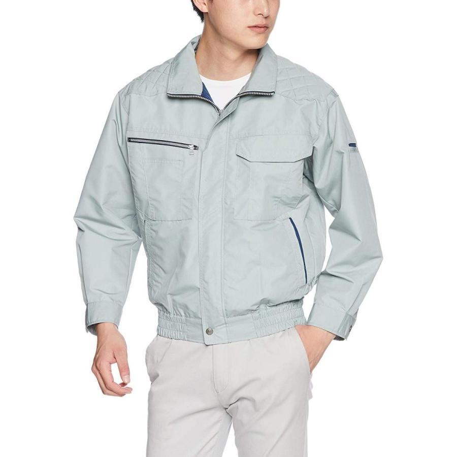 空調風神服 空調服 肩パット付長袖ブルゾンKU90430(単品/ファンなし/ブルゾンのみ) KU90430 メンズ 7:モスグリーン 日本