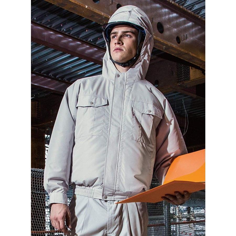 空調服 服のみ フード付き長袖ブルゾン サンエス 空調風神服 KU90810 14(ダークブルー) 4L