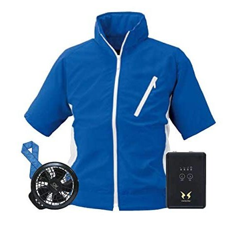 ビッグボーン 空調服 空調風神服 半袖ブルゾン BK6058 服+ファンセット+バッテリー フラット型レギュラー セット メンズ 作業服 サ