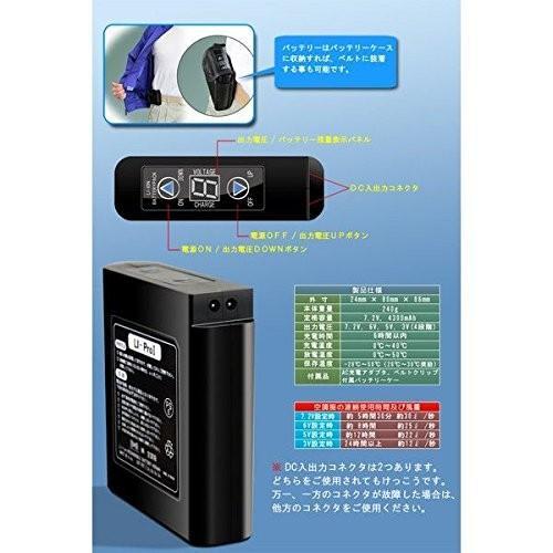 空調服 綿薄手長袖作業着 BM-500U カラーダークブルー: サイズM リチウムバッテリーセット ds-1666250