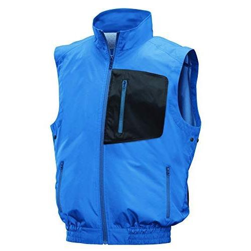 NSP 空調服 服単体 NC-301 ベストタイプ 立ち襟 ブルー/チャコール 3L 8211497