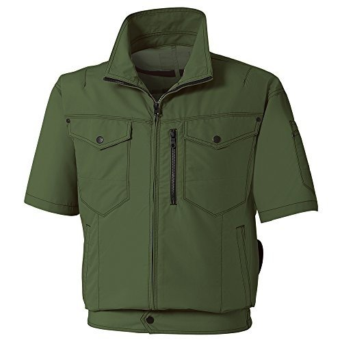 サンエス 空調風神服 服地のみ 半袖ブルゾン ディープグリーン XL 取寄品 KU95150-47-XL