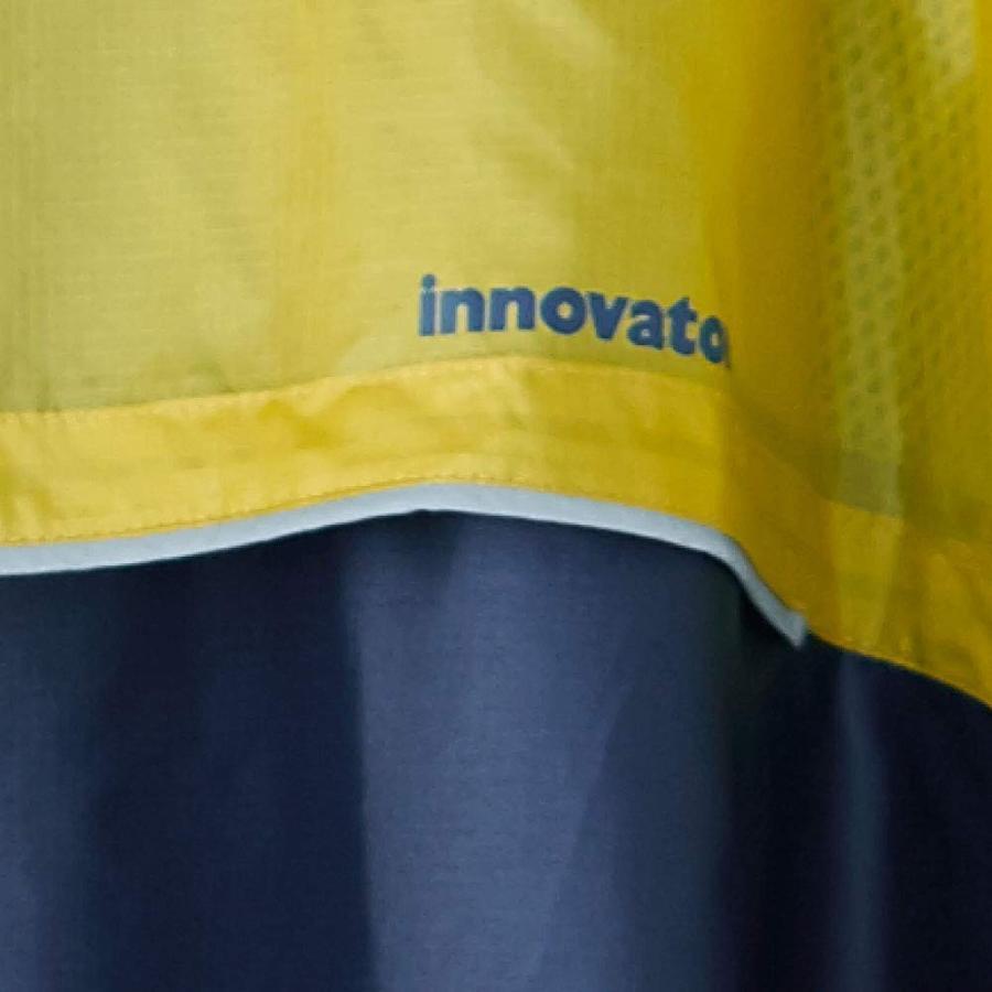 小川(Ogawa) レインポンチョ フリーサイズ(着丈103cm) innovator イノベーター ネイビー はっ水 反射テープ付 止水フ