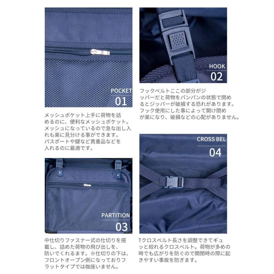 (TTOバリジェリア)TTOvaligeria スーツケース S型機内持ち込み 軽量 TSAロック付 静音 大型(L,ネイビー)