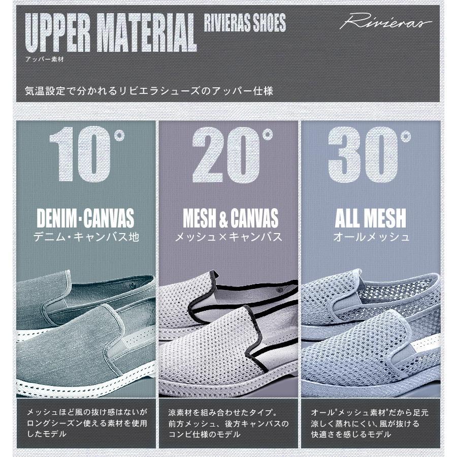 リビエラ RIVIERAS スリッポン メンズ レディース 20℃ フランス スペシャル 9999 靴 シューズ スニーカー 新生活|z-craft|05