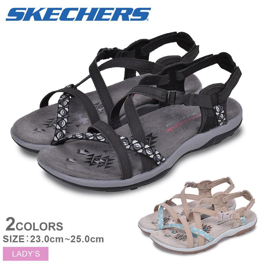 スケッチャーズ サンダル レディース レゲエ スリム ヴァケイ SKECHERS 40955 ブラック 黒 ブラウン グレー 靴 シューズ ビーチ z-craft