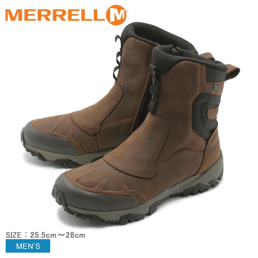 MERRELL メレル ブーツ メンズ コールドパック アイスプラス8 ジップ ポーラー ウォータープルーフ J92027