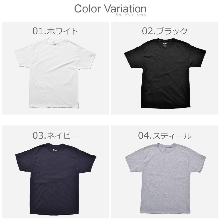 チャンピオン Tシャツ メンズ レディース ADULT 6oz SHORT SLEEVE TEE CHAMPION T425 ブラック 黒 ホワイト 白 グレー レッド|z-craft|04