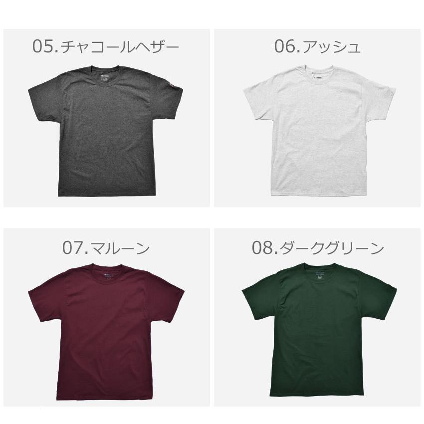 チャンピオン Tシャツ メンズ レディース ADULT 6oz SHORT SLEEVE TEE CHAMPION T425 ブラック 黒 ホワイト 白 グレー レッド|z-craft|05