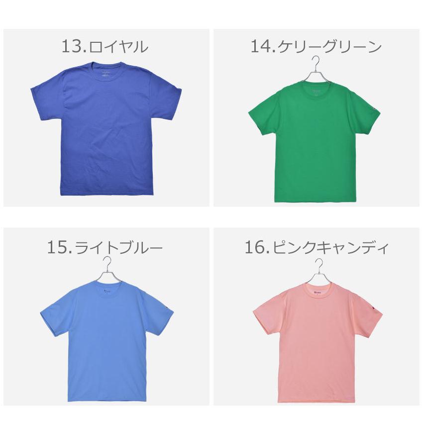チャンピオン Tシャツ メンズ レディース ADULT 6oz SHORT SLEEVE TEE CHAMPION T425 ブラック 黒 ホワイト 白 グレー レッド|z-craft|07