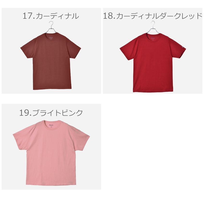 チャンピオン Tシャツ メンズ レディース ADULT 6oz SHORT SLEEVE TEE CHAMPION T425 ブラック 黒 ホワイト 白 グレー レッド|z-craft|08