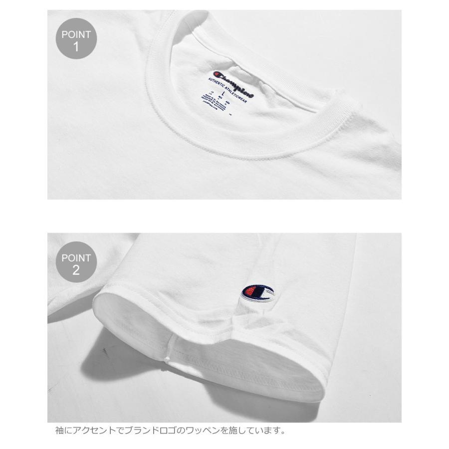 チャンピオン Tシャツ メンズ レディース ADULT 6oz SHORT SLEEVE TEE CHAMPION T425 ブラック 黒 ホワイト 白 グレー レッド|z-craft|10