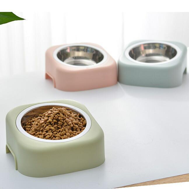 猫 フードボウル 猫 えさ 皿 小型犬用 食器 ステンレス ダイニング フードボール ペット食器|z-fashion|02