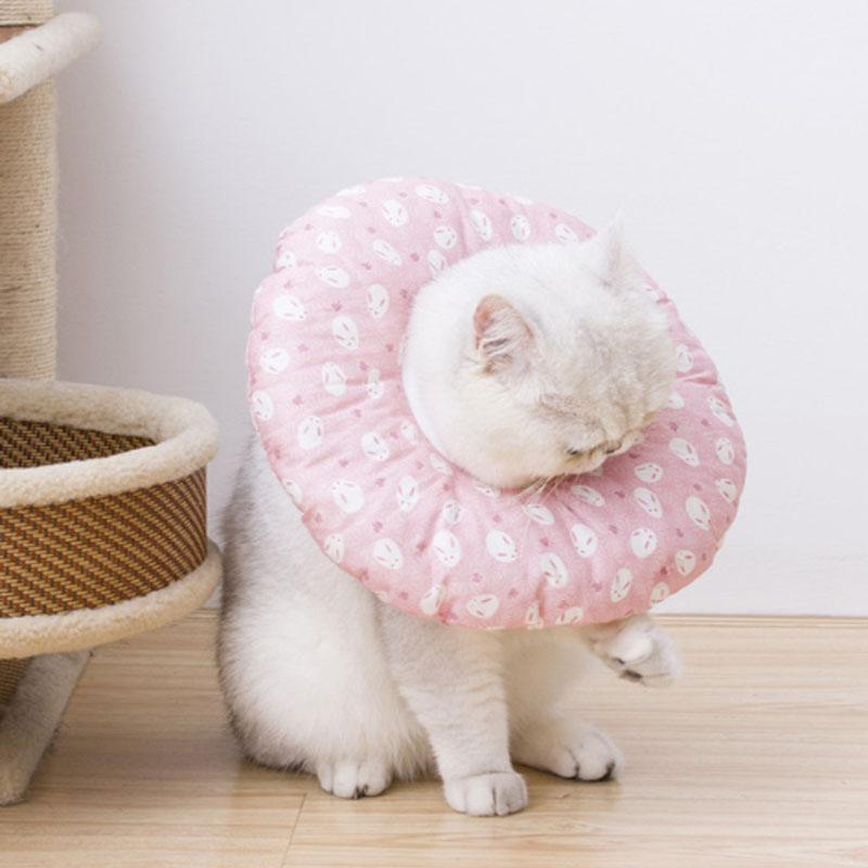 ソフトエリザベスカラー 猫用 犬用 ヘルスケア 介護 手術後ウェア 円錐台形状の保護具 手術 皮膚病 怪我 外傷 傷口をなめる 防止 傷かき|z-fashion