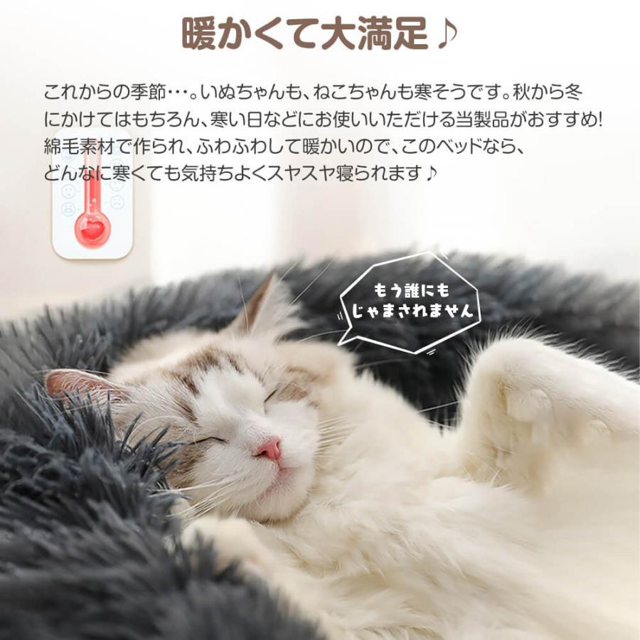 猫ベッド 冬 防寒 ペットベッド 寝床 猫 クッション ペット用品 ネコ ベッド 室内 あったか おしゃれ 犬ベッド 小型犬 保温 四季|z-fashion