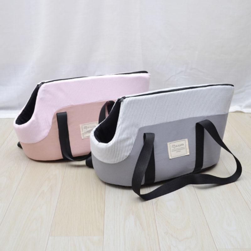 ペットキャリーバッグ 小型犬用 トートバッグ カジュアル アウトドア ペットキャリア ピクニック ストライプ おしゃれ z-fashion 02