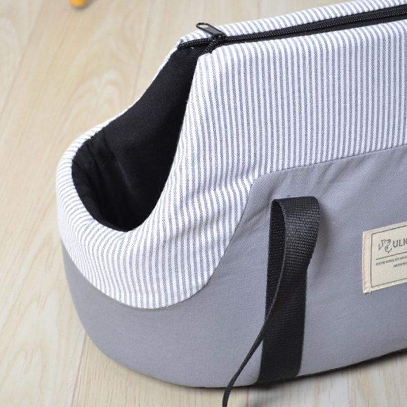 ペットキャリーバッグ 小型犬用 トートバッグ カジュアル アウトドア ペットキャリア ピクニック ストライプ おしゃれ z-fashion 05
