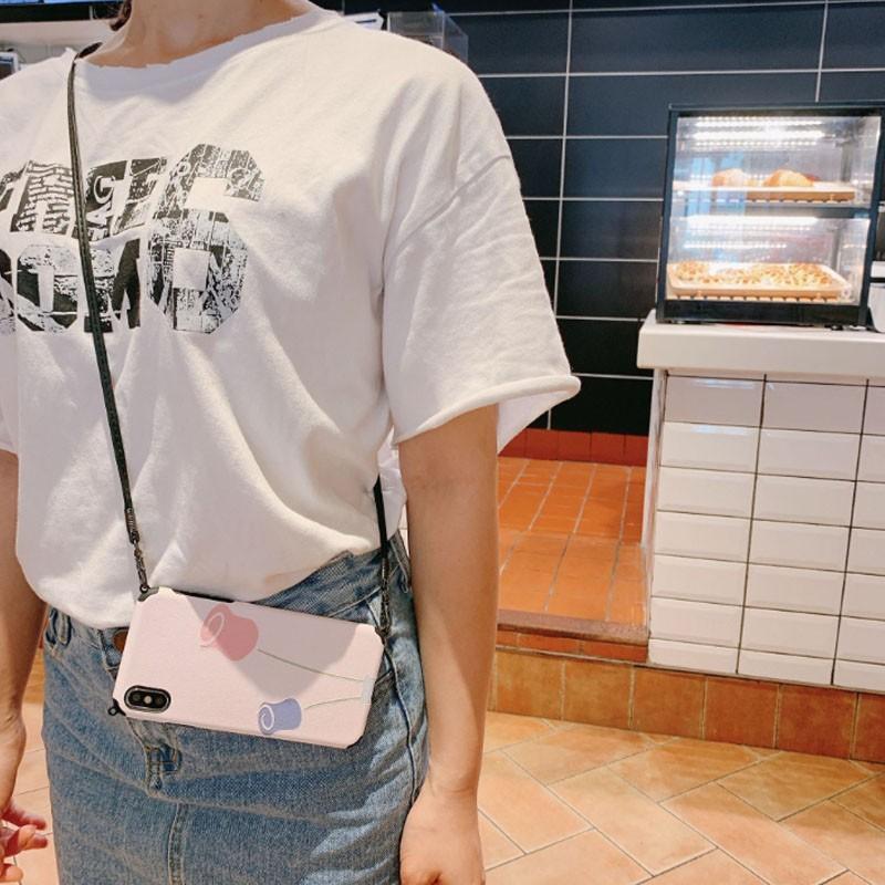 スマホケース ショルダー 肩掛け おしゃれ アイフォン ストラップ付き ネックストラップ 首掛け iPhoneケース スマホ 携帯カバー|z-fashion|04