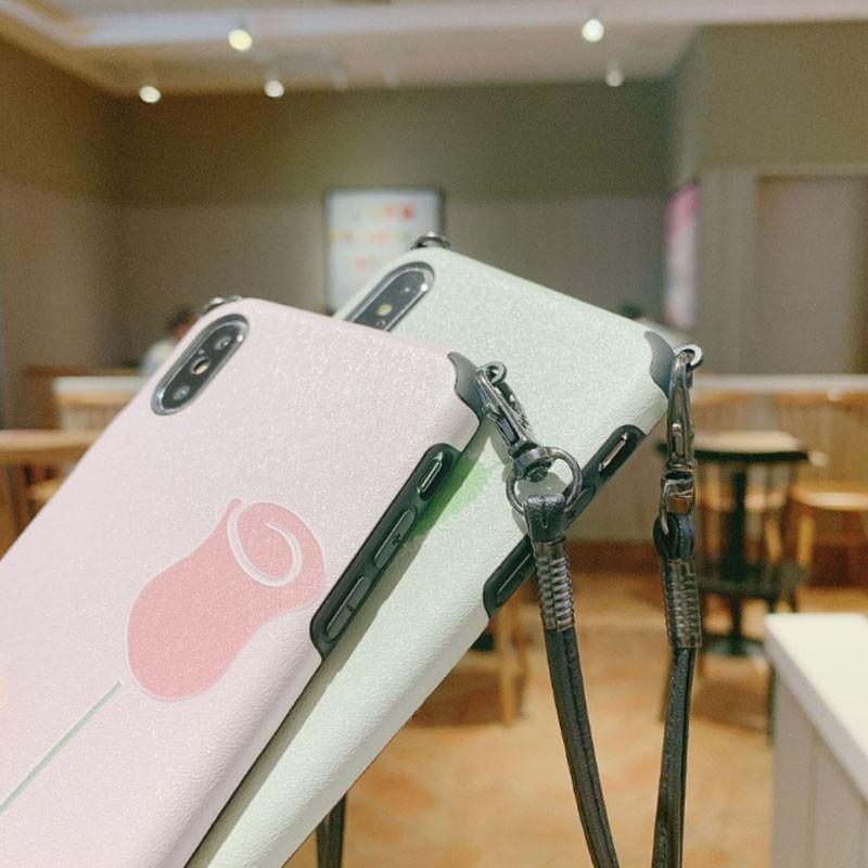 スマホケース ショルダー 肩掛け おしゃれ アイフォン ストラップ付き ネックストラップ 首掛け iPhoneケース スマホ 携帯カバー|z-fashion|08