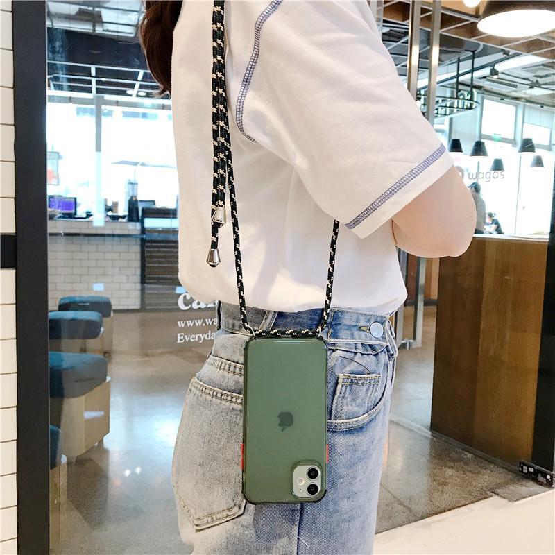 スマホケース ショルダー 肩掛け おしゃれ アイフォン ストラップ付き ネックストラップ 首掛け iPhoneケース スマホ 携帯カバー|z-fashion