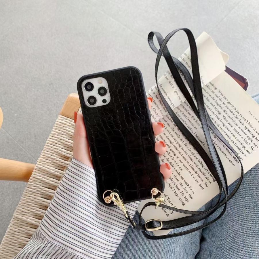 スマホケース iphone12 Pro Max 首掛け 可愛い アイフォン12 プロ マックス ストラップ付き 落下防止 カバー|z-fashion|05