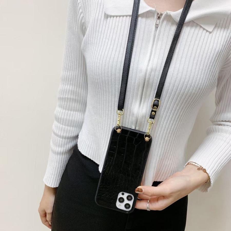 スマホケース iphone12 Pro Max 首掛け 可愛い アイフォン12 プロ マックス ストラップ付き 落下防止 カバー|z-fashion|08