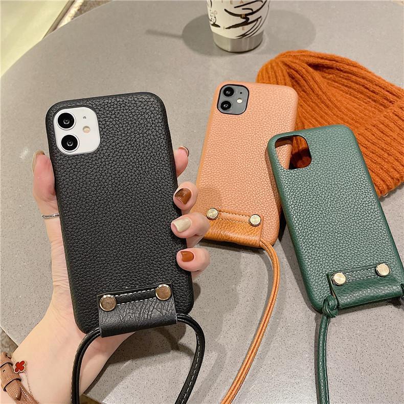 スマホケース カバー iphone12 Pro Max 首掛け 合皮 アイフォン12 iphone11 プロ マックス ストラップ付き 落下防止 カバー|z-fashion