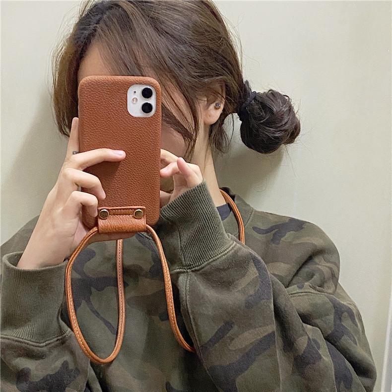 スマホケース カバー iphone12 Pro Max 首掛け 合皮 アイフォン12 iphone11 プロ マックス ストラップ付き 落下防止 カバー|z-fashion|02