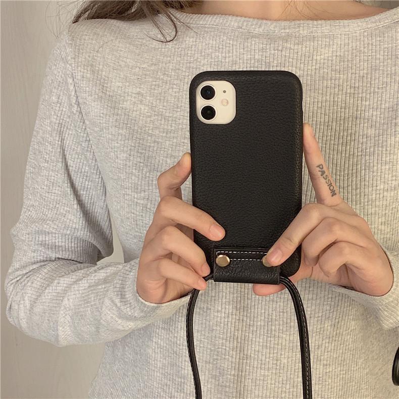 スマホケース カバー iphone12 Pro Max 首掛け 合皮 アイフォン12 iphone11 プロ マックス ストラップ付き 落下防止 カバー|z-fashion|09