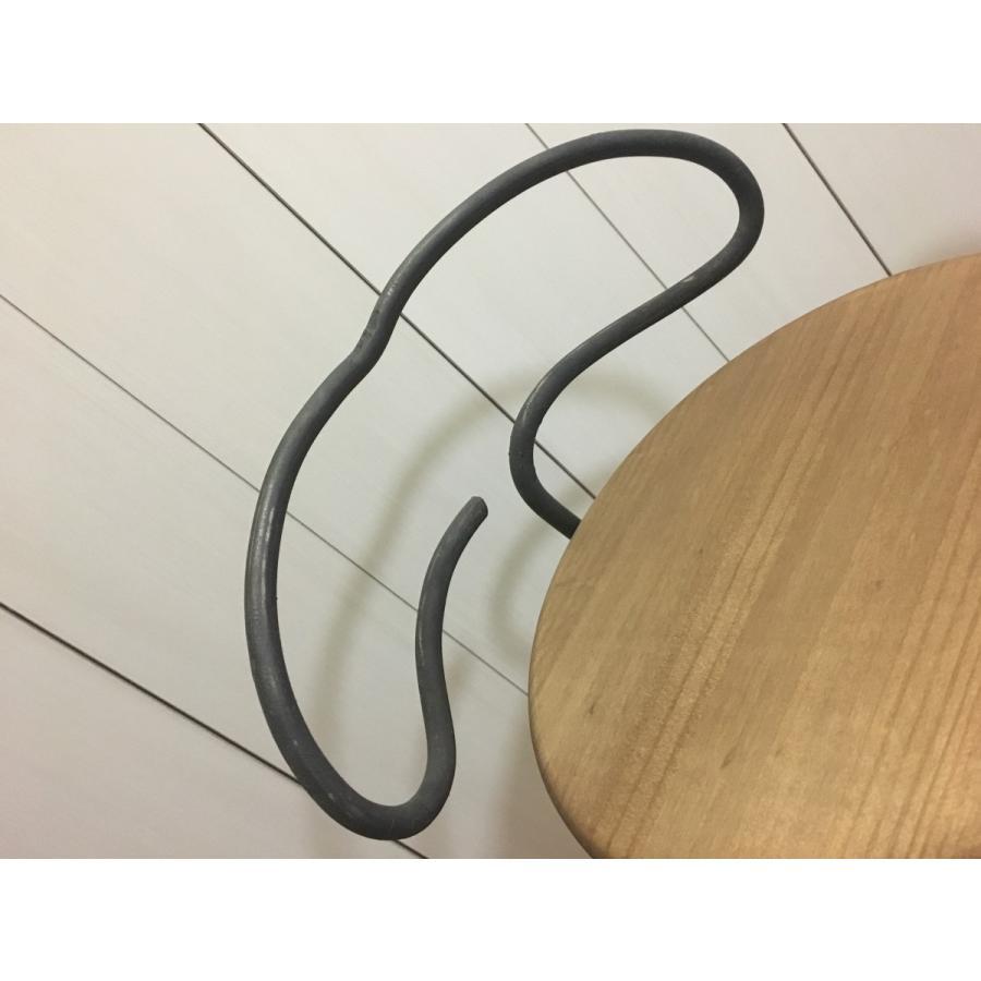 アイアン  サイドテーブル サイドボード チェア風 (背もたれ有り)丸型|zacc|02