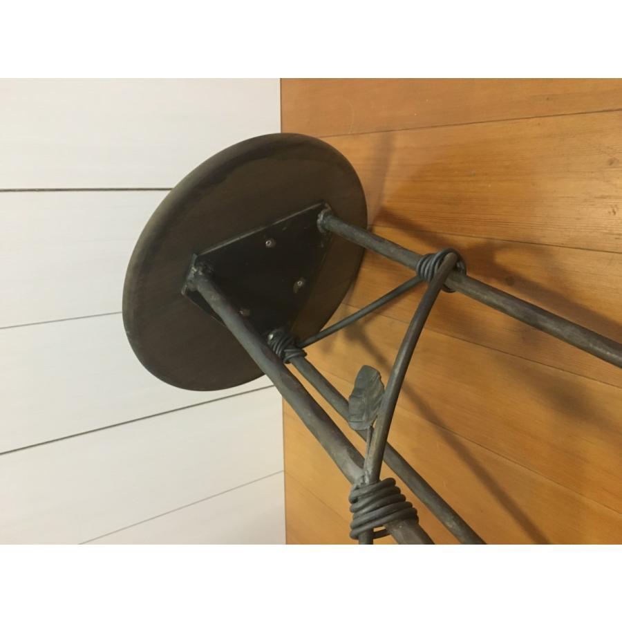アイアン  サイドテーブル サイドボード チェア風 (背もたれ有り)丸型|zacc|03